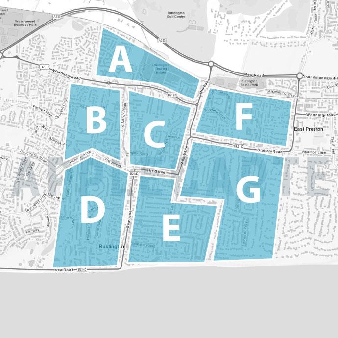 Leaflet Distribution - Rustington Map