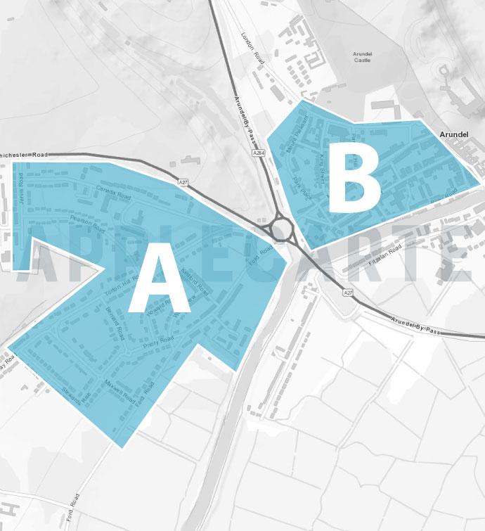 Leaflet Distribution Arundel Map