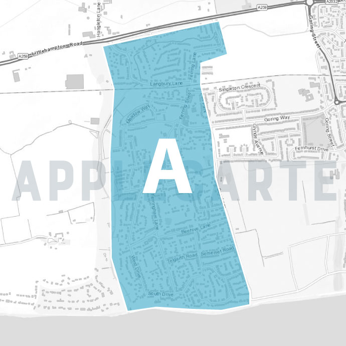 Leaflet Distribution - Worthing Map